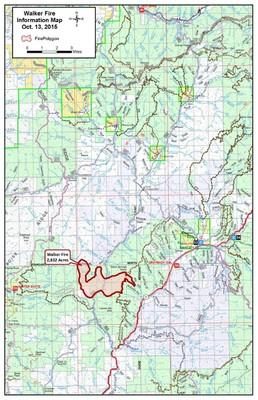 Walker Fire map   Idaho Conservation