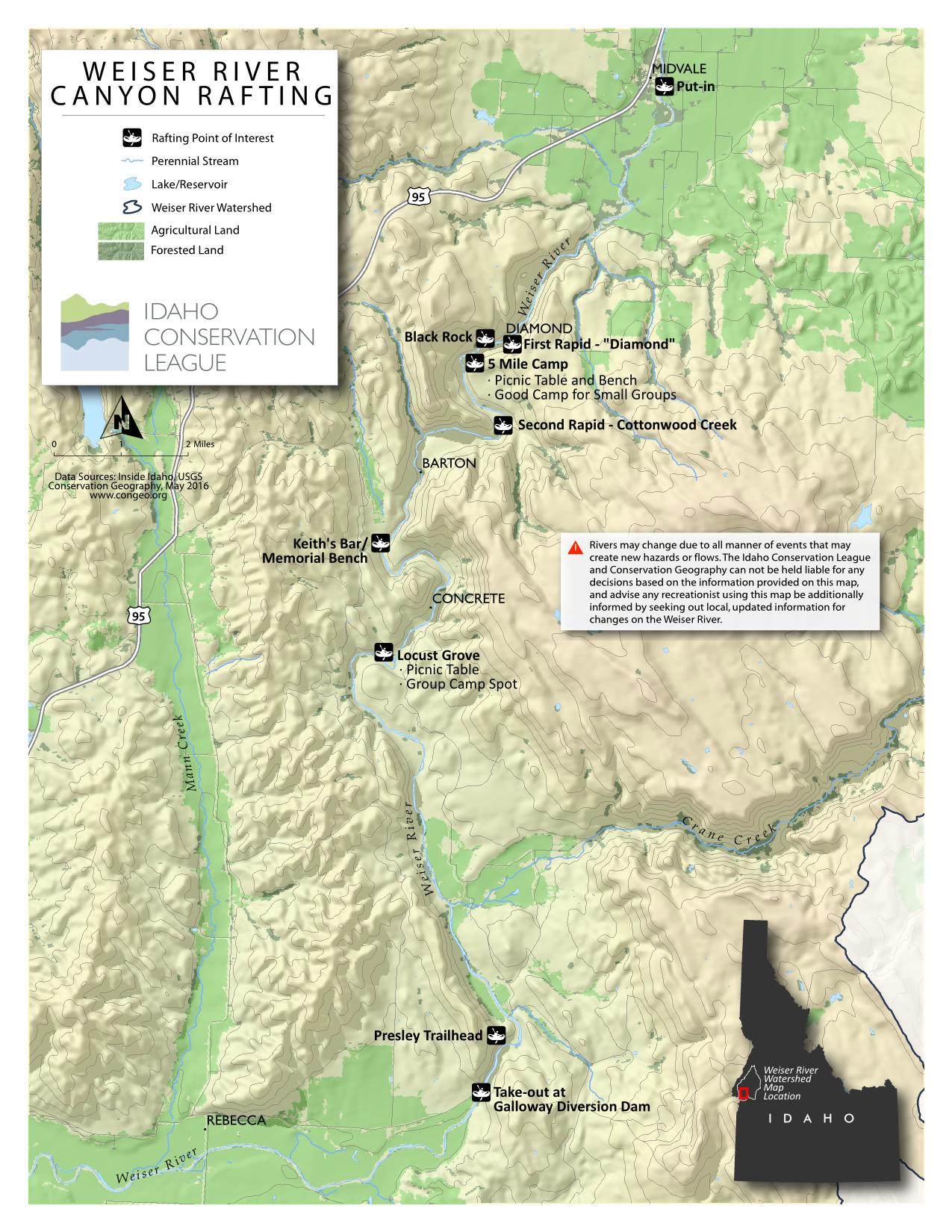 Weiser River Float Idaho Conservation